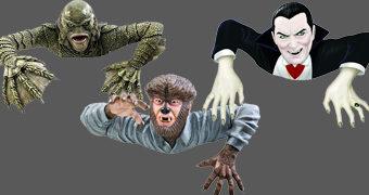 Estátuas Rastejantes Universal Monsters Grave Walkers: Criatura da Lagoa Negra, Lobisomem e Drácula