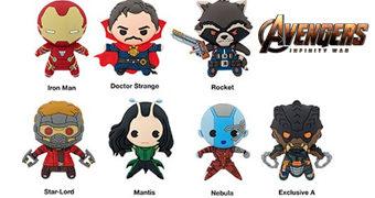 Chaveiros Vingadores: Guerra Infinita 3D Monogram Figural Keyrings