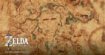 Quebra-Cabeça Mapa de Hyrule com 750 Peças (Zelda: Breath of the Wild)