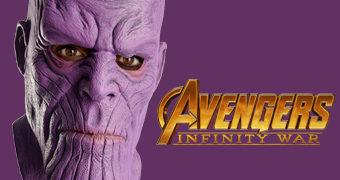 Máscara Thanos, o Titã Louco, em Vingadores: Guerra Infinita
