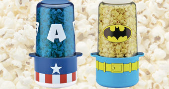 Pipoqueiras Capitão América (Marvel) e Batman (DC)