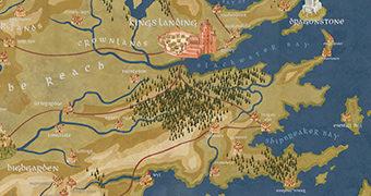 Quebra-Cabeça Mapa de Westeros de Cersei Lannister (Game of Thrones)