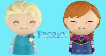 Bonequinhas Dorbz Frozen: Elsa e Anna