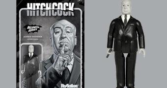 Action Figure Sir Alfred Hitchcock ReAction em Preto e Branco