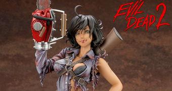 Estátua Ash Williams (Evil Dead 2) Estilo Bishoujo – Ilustração de Shunya Yamashita