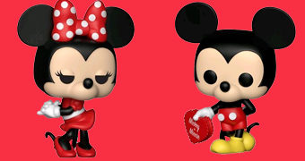 Bonecos Pop! Disney Mickey Mouse e Minnie Mouse Apaixonados!