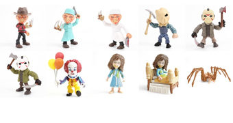 Mini-Figuras Horror Action Vinyls Wave 1: Freddy, Jason, Pennywise e a Menina Reagan