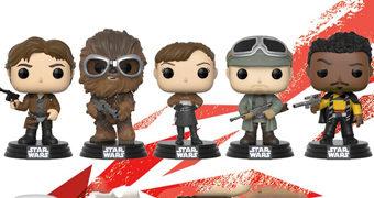 Bonecos Pop! Han Solo: Uma História Star Wars