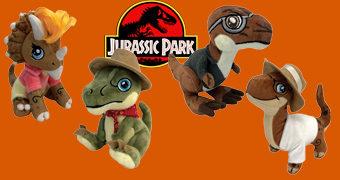Dinossauros de Pelúcia Jurassic Park Fazendo Cosplay
