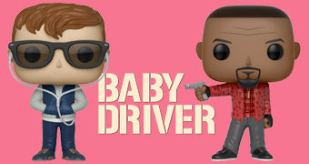 Bonecos Pop! do Filme Baby Driver (Edgar Wright)