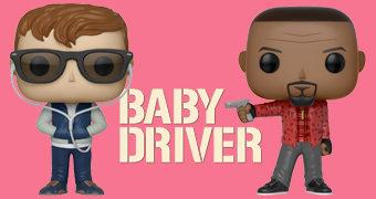 Bonecos Pop! do Filme Baby Driver (Edgar Wright)