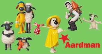 Bonecos Aardman UDF de Wallace & Gromit: A Batalha dos Vegetais e Shaun, o Carneiro