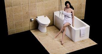 Banheiro Completo Escala 1:6 para Action Figures