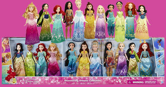 Coleção de Bonecas 11 Princesas Disney