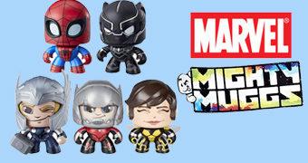 Bonecos Marvel Mighty Muggs: Spiderman, Pantera Negra, Thor, Homem-Formiga e Vespa