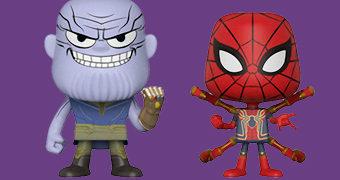 Dupla VYNL Vingadores: Guerra Infinita com Thanos e Iron Spider