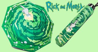 "Guarda-Chuva Rick and Morty com Tinta ""Hydrochromic"" Sensível à Água!"