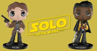 Bonecos Bobble Heads Han Solo e Lando Calrissian (Solo: A Star Wars Story)