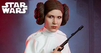 Princesa Leia (Carrie Fisher) Premium Format – Estátua Sideshow Star Wars IV Uma Nova Esperança