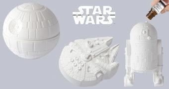 Difusores de Aromas Star Wars: R2-D2, Death Star e Millenium Falcon