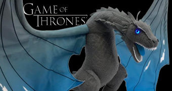 Dragão de Pelúcia Game of Thrones: Viserion, o Dragão de Gelo