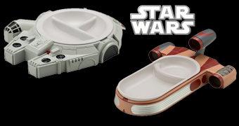 Pratos Star Wars Kotobukiya: Millenium Falcon e Landspeeder