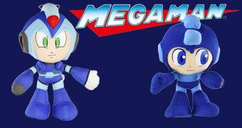 Bonecos de Pelúcia Mega Man X4 e Mega Man 10