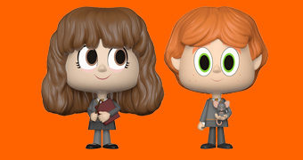 Dupla de Bonecos Ron Weasley e Hermione Granger VYNL (Harry Potter)