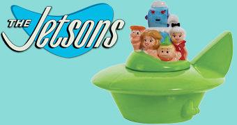 Pote de Cookies Os Jetsons e seu Carro Aéreo