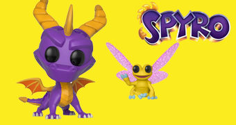 Bonecos Pop! Dragão Spyro e Libélula Sparx – 20 Anos do Videogame Spyro the Dragon