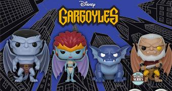 Bonecos Pop! do Desenho Animado Os Gárgulas da Disney
