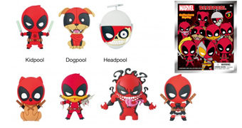 Chaveiros Deadpool 3D Monogram Figural Keyrings com Dogpool, Headpool, Lady Deadpool, Pandapool e Outros
