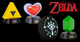 Quatro Luminárias do Game The Legend of Zelda