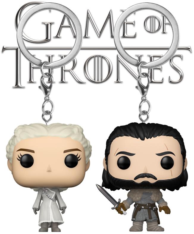 "Chaveiros Pocket Pop! Game of Thrones  Daenerys e Jon Snow ""Beyond the Wall"" f993aa511c"