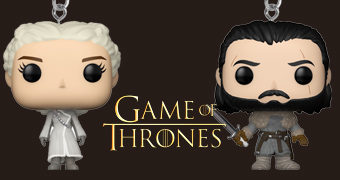 "Chaveiros Pocket Pop! Game of Thrones: Daenerys e Jon Snow ""Beyond the Wall"""