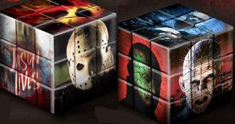 Cubos de Rubik Filmes de Terror: Jason Voorhees, Hellraiser Pinhead e Palhaço Pennywise