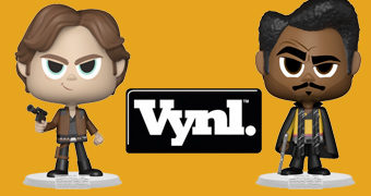 Dupla de Bonecos Han Solo e Lando Calrissian VYNL (Star Wars)