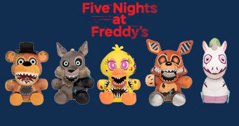 "Bonecos de Pelúcia do Game Five Nights at Freddy's ""Twisted Ones"""