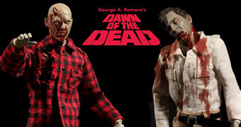 Action Figures One:12 Collective Zumbis Despertar dos Mortos (Dawn of the Dead) de George Romero