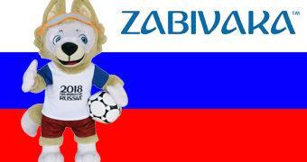 Copa do Mundo Rússia 2018: Mascote Zabivaka (Забива́ка) de Pelúcia