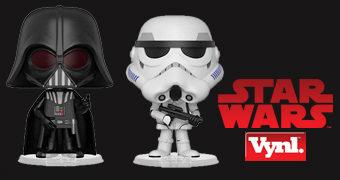 Dupla de Bonecos Darth Vader e Stormtrooper VYNL (Star Wars)