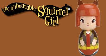 Boneca Garota Esquilo (Squirrel Girl) no Estilo Japonês Kokeshi