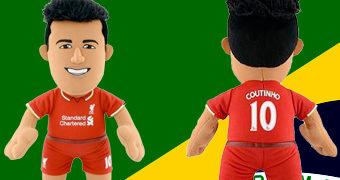 """Boneco de Pano Philippe Coutinho – O """"Homem do Jogo"""" Brasil 2 x 0 Costa Rica (Copa do Mundo 2018)"""