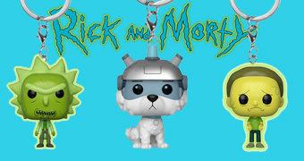 Chaveiros Rick and Morty Pocket Pop!