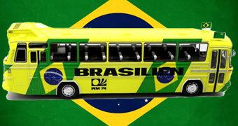 Réplica do Ônibus Mercedes-Benz da Seleção Brasileira na Copa do Mundo 1974