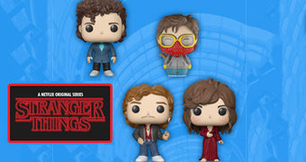 Stranger Things Pop! e Dorbz: Steve, Dustin, Billy e Karen Wheeler (SDCC 2018)