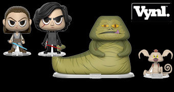 Duplas VYNL Star Wars: Rey + Kylo Ren e Jabba The Hutt + Salacious Crumb