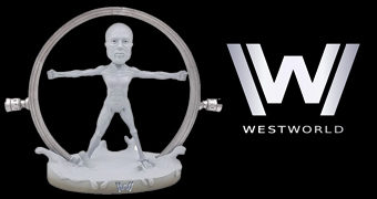 Westworld Intro White Body – Boneco Bobble Head da Série da HBO