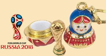 Chaveiro Matryoshka com a Taça FIFA – Copa do Mundo Rússia 2018