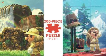 4 Quebra-Cabeças de 200 Peças do Super Mario
